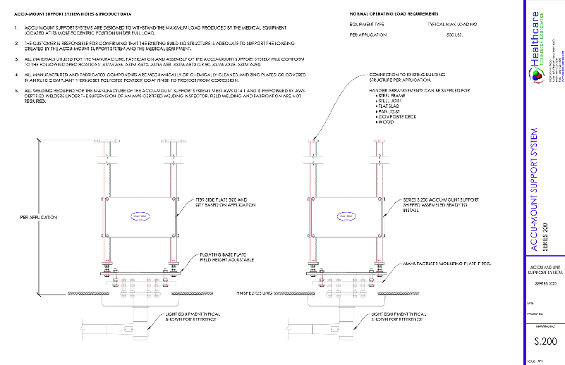 Accu-mount Series 200 Technical Drawing